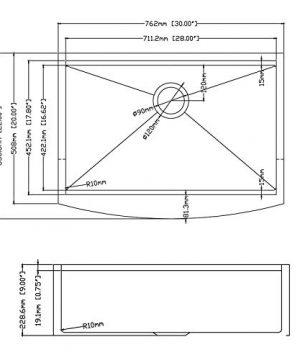 30 X 22 X 9 Inch Farmhouse Kitchen Sink Workstation Ledge 18 Gauge Stainless Steel Sink Modern Apron Front Single Bowl Kitchen Sink 0 3 300x360
