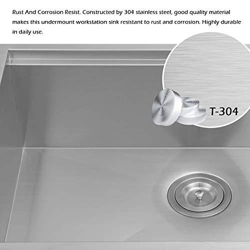 30 X 22 X 9 Inch Farmhouse Kitchen Sink Workstation Ledge 18 Gauge Stainless Steel Sink Modern Apron Front Single Bowl Kitchen Sink 0 4