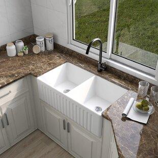 33+L+x+18+W+Double+Basin+Farmhouse+Kitchen+Sink