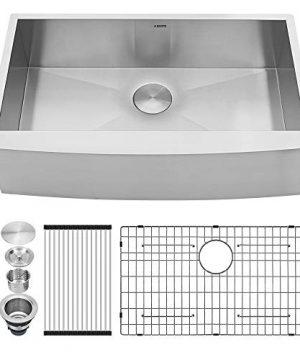 36 Farmhouse Sink Kichae 36 Inch Kitchen Sink Apron Front Deep Single Bowl 18 Gauge Stainless Steel Kitchen Farm Sink 0 300x360
