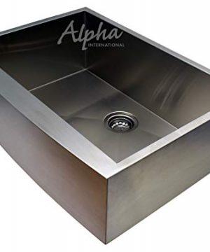 Alpha 27 Apron Farmhouse Single Bowl 16 Gauge Undermount Kitchen Sink 0 300x360