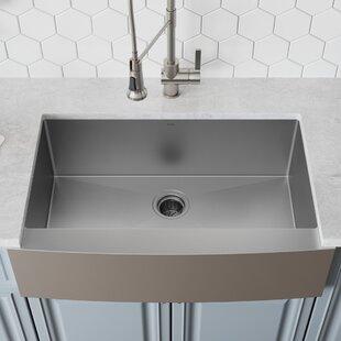 Apron+Kitchen+Sink+with+Basket+Strainer