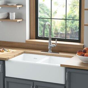Delancey+33+L+x+22+W+Double+Basin+Farmhouse+Kitchen+Sink