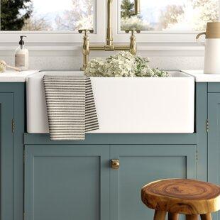 Desalvo+33+L+X+20+W+Farmhouse+Kitchen+Sink+with+Basket+Strainer