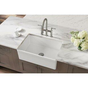Elkay+Fireclay+30+L+x+20+W+Farmhouse+Kitchen+Sink
