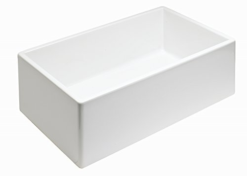 Empire Industries SP30SG Sutton Place Reversible Farmhouse Fireclay Kitchen Sink With Grid And Strainer 30 W White 0 2