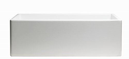 Empire Industries SP30SG Sutton Place Reversible Farmhouse Fireclay Kitchen Sink With Grid And Strainer 30 W White 0 3
