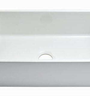 Empire Industries SP30SG Sutton Place Reversible Farmhouse Fireclay Kitchen Sink With Grid And Strainer 30 W White 0 4 300x319