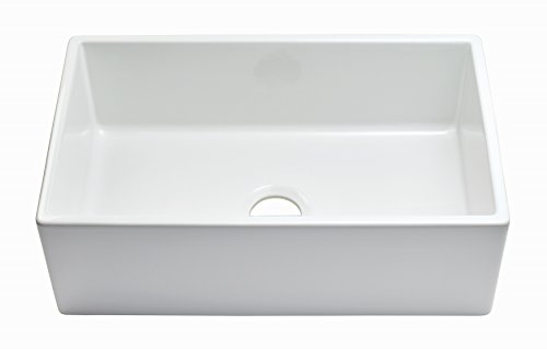 Empire Industries SP30SG Sutton Place Reversible Farmhouse Fireclay Kitchen Sink With Grid And Strainer 30 W White 0 4
