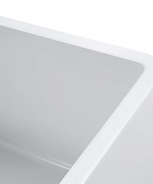Empire Industries SP30SG Sutton Place Reversible Farmhouse Fireclay Kitchen Sink With Grid And Strainer 30 W White 0 5 300x360