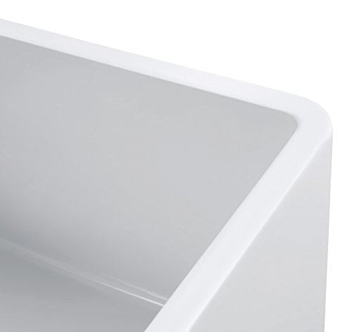 Empire Industries SP30SG Sutton Place Reversible Farmhouse Fireclay Kitchen Sink With Grid And Strainer 30 W White 0 5
