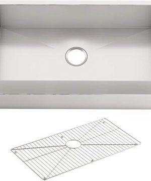 KOHLER 3936 NA VaultTM 29 12 X 21 14 X 9 516 Under Mount Single Bowl Stainless Steel With Short Apron For 30 Cabinet Kitchen Sink 30 Inch 0 300x360
