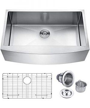 Keonjinn Kitchen Sink 33 Inch Apron Front Farmhouse 16 Gauge Stainless Steel Single Bowl 0 300x360