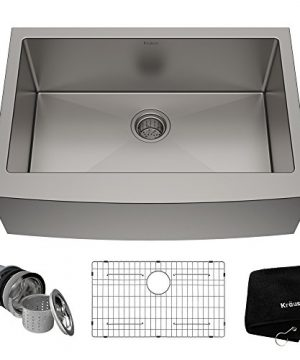 Kraus KHF200 30 Standart PRO Kitchen Stainless Steel Sink 30 Inch Round Apron Single Bowl 0 300x360