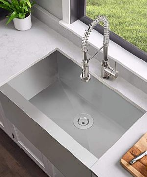 MENSARJOR 30 X 20 Inches Apron Farmhouse Single Bowl 16 Gauge Stainless Steel Kitchen Sink 30 X 20 X 10 0 2 300x360