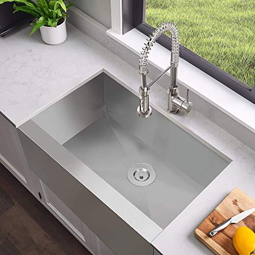 MENSARJOR 30 X 20 Inches Apron Farmhouse Single Bowl 16 Gauge Stainless Steel Kitchen Sink 30 X 20 X 10 0 2
