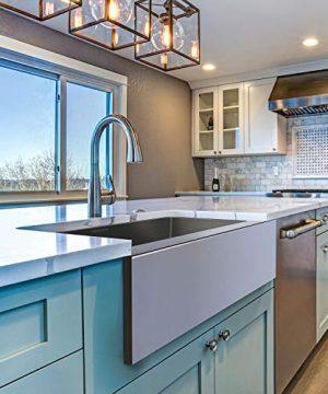 MENSARJOR 30 X 20 Inches Apron Farmhouse Single Bowl 16 Gauge Stainless Steel Kitchen Sink 30 X 20 X 10 0 300x360