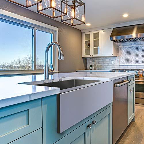 MENSARJOR 30 X 20 Inches Apron Farmhouse Single Bowl 16 Gauge Stainless Steel Kitchen Sink 30 X 20 X 10 0