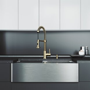 Oxford+33+L+x+20.5+W+Double+Basin+Farmhouse+Kitchen+Sink+with+Faucet