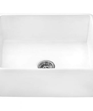 Ruvati 23 X 18 Inch Fireclay Farmhouse Apron Front Kitchen Laundry Sink Single Bowl White RVL2468WH 0 2 300x360