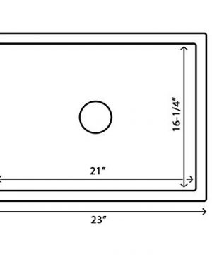 Ruvati 23 X 18 Inch Fireclay Farmhouse Apron Front Kitchen Laundry Sink Single Bowl White RVL2468WH 0 5 300x360