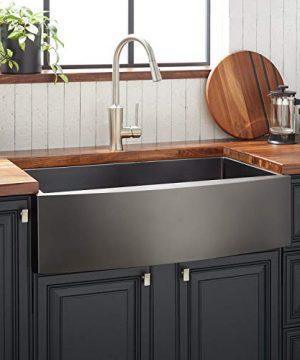 Signature Hardware 944649 33 Atlas 33 Farmhouse Single Basin Stainless Steel Kitchen Sink 0 300x360