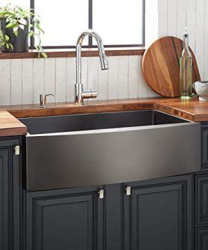 Signature Hardware 944661 36 Atlas 36 Farmhouse Single Basin Stainless Steel Kitchen Sink 0 300x360