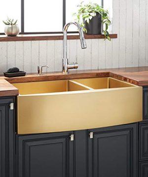 Signature Hardware 944665 36 Atlas 36 Farmhouse Double Basin Stainless Steel Kitchen Sink 0 300x360