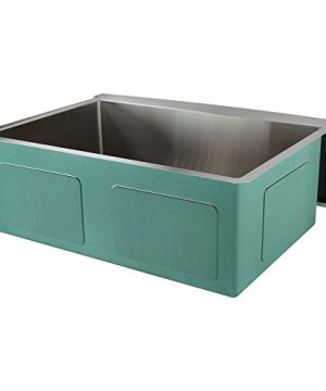 Transolid DUSSF302210 Diamond Apron Front Single Bowl 16 Gauge Stainless Steel Kitchen Sink 30 In X 22 In X 10 In Brushed Finish 0 1 300x360