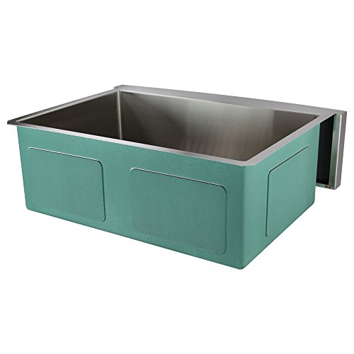 Transolid DUSSF302210 Diamond Apron Front Single Bowl 16 Gauge Stainless Steel Kitchen Sink 30 In X 22 In X 10 In Brushed Finish 0 1