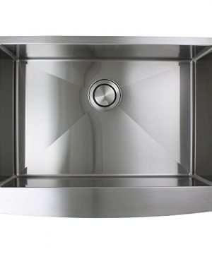 Transolid DUSSF302210 Diamond Apron Front Single Bowl 16 Gauge Stainless Steel Kitchen Sink 30 In X 22 In X 10 In Brushed Finish 0 3 300x360