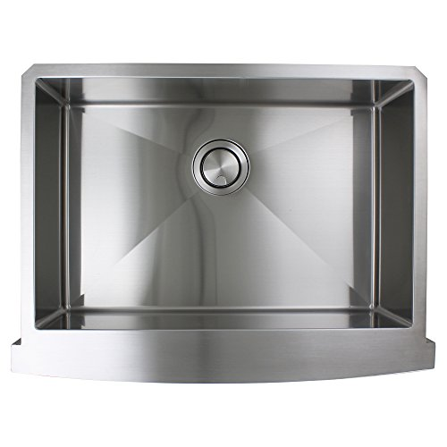 Transolid DUSSF302210 Diamond Apron Front Single Bowl 16 Gauge Stainless Steel Kitchen Sink 30 In X 22 In X 10 In Brushed Finish 0 3