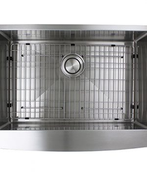 Transolid DUSSF302210 Diamond Apron Front Single Bowl 16 Gauge Stainless Steel Kitchen Sink 30 In X 22 In X 10 In Brushed Finish 0 4 300x360