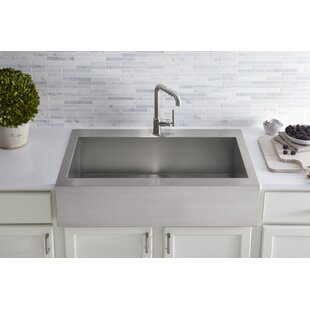 Vault+Top-Mount+Single-Bowl+Stainless+Steel+Kitchen+Sink+with+Shortened+Apron-Front+for+36Cabinet