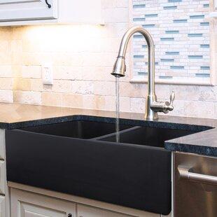 Vineyard+33+L+x+18+W+Double+Basin+Farmhouse+Kitchen+Sink