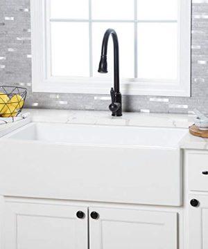 Vintage Tub Bath 32 Inch Fireclay Reversible Apron Farmhouse Sink White 0 300x360