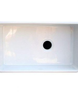 Whitehaus WH3018 WHITE Duet 30 Inch Reversible Fireclay Sink With Smooth Front Apron White 0 1 300x360