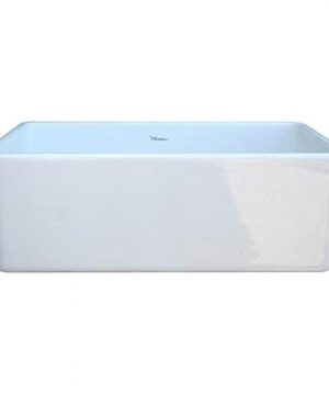 Whitehaus WH3018 WHITE Duet 30 Inch Reversible Fireclay Sink With Smooth Front Apron White 0 3 300x360