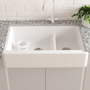 Whitehaven+Smart+Divide+36+L+x+22+W+Farmhouse+Double-Bowl+Kitchen+Sink+with+Tall+Apron