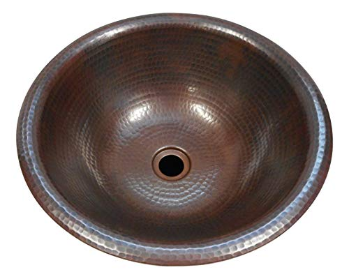 15 Round Copper Bathroom Sink Drop In Or Vessel Sink Aged Copper 0