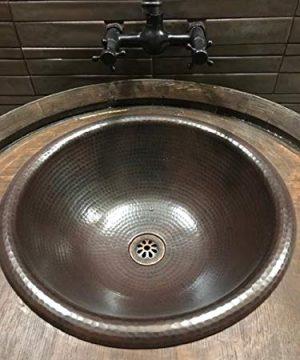 15 Round Vessel Or Drop In Hand Hammered Copper Bath Sink 0 0 300x360