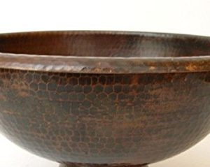 15 Round Vessel Or Drop In Hand Hammered Copper Bath Sink 0 300x239