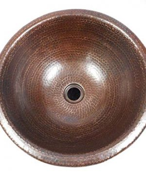 15 Self Rimming Round Copper Bath Sink In Brushed Sedona Accents 0 2 300x360