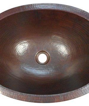 16 Rustic Oval Copper Bathroom Sink Dual Mount Installation 0 300x360