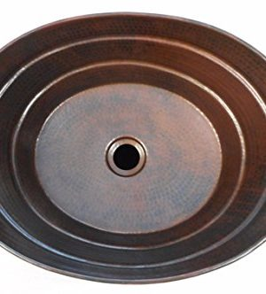 16 X 12 Oval Copper BUCKET Vessel Bathroom Sink With Handle 0 0 300x332