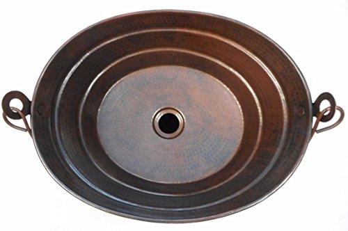 16 X 12 Oval Copper BUCKET Vessel Bathroom Sink With Handle 0 0