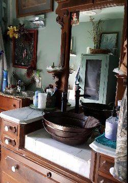 16 X 12 Oval Copper BUCKET Vessel Bathroom Sink With Handle 0 1 251x360