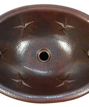 19 Oval Copper Bathroom Sink With Star Design Self Rimming 0 300x360
