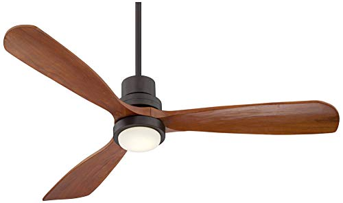52 Casa Delta Wing Modern Outdoor Ceiling Fan With Light Solid Wood Oil Rubbed Bronze Damp Rated For Kitchen Patio Casa Vieja 0 0