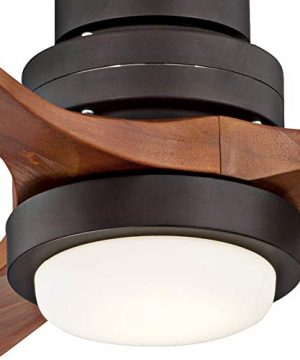 52 Casa Delta Wing Modern Outdoor Ceiling Fan With Light Solid Wood Oil Rubbed Bronze Damp Rated For Kitchen Patio Casa Vieja 0 3 300x360